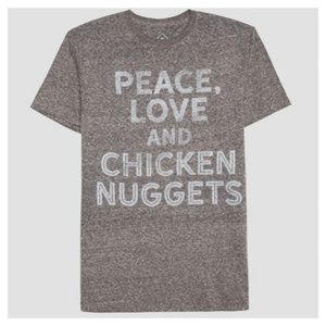 Men's Peace, Love, and Chicken Nuggets Graphic Tee